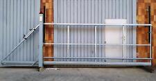 Schiebetor Hoftor freitragend E-Antrieb - SOFORT verfügbar - 4,0x1,6-1,9m L