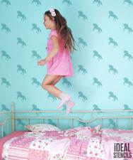 bambine ragazze UNICORNO camera da letto decorazione muro Stampo ~ PITTURA MURI