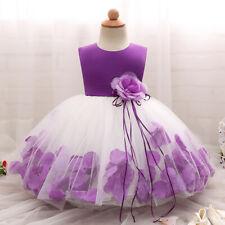 Newborn Baby Kids Toddler Girls Sleeveless Flower Wedding Princess Party Dress