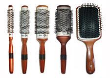 rotondo spazzola capelli ceramica manico in legno Head Jog accessori per capelli