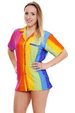 Funky Hawaiibluse Rainbow Vertikal verschiedene Größen Hawaiishirt