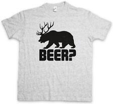 BEER? T-SHIRT Deer Bear Fun Hunt Hunter Alcohol Drinking Sport Bier Alkohol