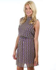 Plus size Junior Women dress purple open back  holiday party