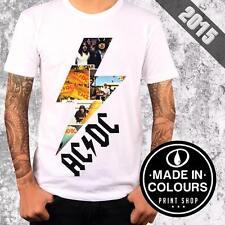 T-Shirt AC-DC Fulmine Rock Old Vintage - TATTOO SLUB - Made in Colours