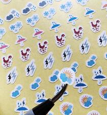 Color Weather Sticker 108pc For Life Planner Scheduler Journal Organizer