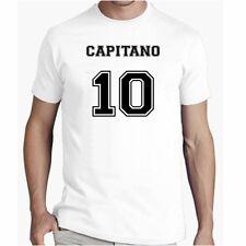 T Shirt CAPITANO 10 Divertente Maglietta Urban Cotone Tshirt Calcio vip happines