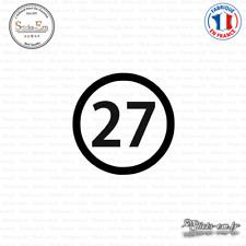 Sticker Département 27 Eure Évreux Haute-Normandie Decal Aufkleber Pegatinas