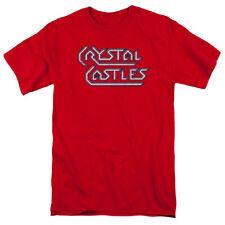 Atari Crystal Castles Logo Mens Short Sleeve Shirt RED