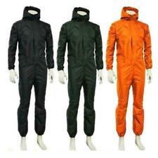 Unisex Career Waterproof One-piece Work Jumpsuit Hooded Boilersuit Zipper Sets