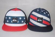 New Quiksilver Boardies Trucker Hat Merican Stripe Mesh Snapback Men's Hat OSFM