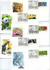 2705-09 Wild Animals, set of 5, Farnam, HF, FDCs
