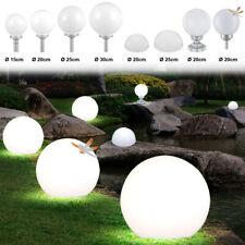 LED Solar Wand Steh Lampen Veranda Erdspieß Kugel Leuchten Außen Steck Strahler