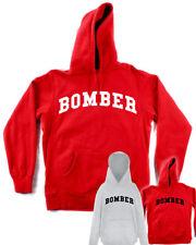 FELPA BOMBER bud spencer rossa con cappuccio e tasca grigia maglia calcio