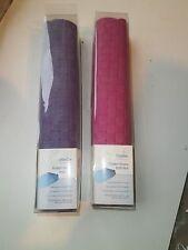Croydex Basket Weave Oval Bath Mat Purple or Pink