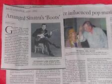 1919-2012 BILLY STRANGE OBITUARY ARRANGED SINATRA'S 'BOOTS'