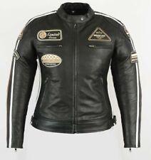 Damas Chaqueta de cuero MOTORCYLCE, Biker Chopper Chaqueta De Cuero Harley