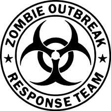 Zombie Outbreak Response Team Vinyl Decal Sticker Free Shipping