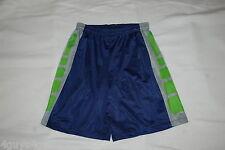 Mens Athletic Shorts DK BLUE GRAY LIME GREEN Mesh Net LINED Squares M XL 2XL 3XL