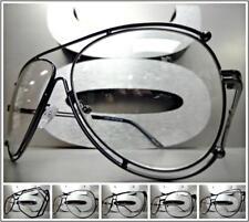 Mens Women WHOLESALE VINTAGE RETRO Style Clear Lens Fashion Glasses Black Frame