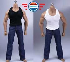 1//6 Uomini Grigio Canottiera Biancheria Intima Per Phicen M34 M33 Corpo Maschile Muscolare ❶ USA ❶