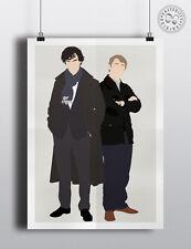 SHERLOCK & WATSON - Minimalist Characters Poster Posteritty Holmes Cumberbatch