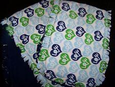 "Handmade Baby ""Rag"" Burp Cloths Set of 2 - Blue/Green Love"