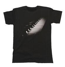 Teclado Piano Unisex Calce Camiseta para Hombre & Damas Instrumento de Música Banda Festival
