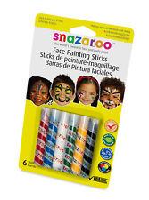 Snazaroo Unisex Face Painting Kits Crayons Sticks Multi Set Masks Non Toxic