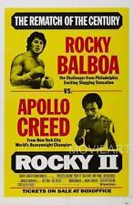 ROCKY II 2 CREED VINTAGE MOVIE POSTER FILM A4 A3 ART PRINT CINEMA