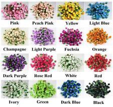 10X 50X 100X 500X Rose Artificial Silk Flower Head Party Wedding Halloween Decor