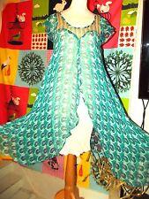 ANTIK BATIK ROBE  DRESS FOLK  DELICE DOUBLE SOIE PANS SOIREE TS OU 36/38