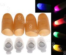4 x Magic Light Up Thumb Props Fingers LED Trick Finger Lights Novel