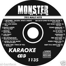 KARAOKE MONSTER HITS CD+G 70's MALE HITS  #1135