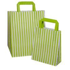 Verde Strisce Colorate Piatto Maniglia Sacchetto Da Trasporto