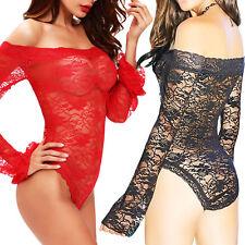 Body top pizzo trasparente scollo gitana carmen top sexy intimo donna dl-2188