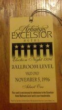1996 President Bill Clinton & VP Al Gore Election VIP Guest Hotel Credential
