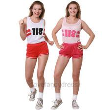 LADIES 118 118 COSTUME VEST AND SHORTS FUN RUN MARATHON FANCY DRESS RETRO STYLE