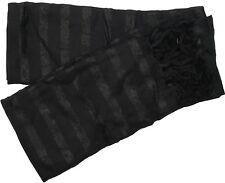 RJM Ladies Metallic Striped Woven Scarf