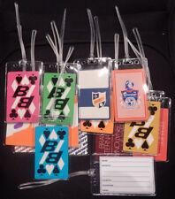 Luggage tag Braniff International Airways w/playing card multiple designs