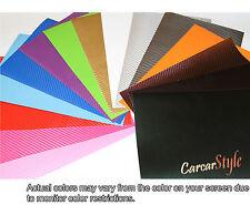 【3D Carbon Fibre Vinyl】Wrap Film Sticker Sheet Textured Black White Red Silver