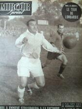 FOOTBALL STRASBOURG RENNES BIHEL COPPI LOMBARDIE BOXE HUMEZ MIROIR SPRINT 1950
