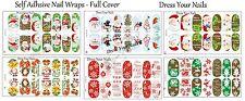 Christmas Nail Foil Wraps Full Cover Thin Stickers Xmas Santa Snowman Snowflake
