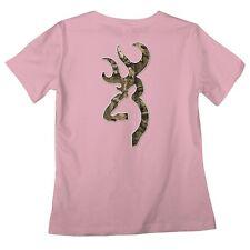 Browning Buckmark Pink Mossy Oak Camo Ladies T-Shirt