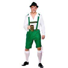 Verde Lederhose,Camisa & Sombrero Alemán Oktoberfest Bávaro BEER Disfraz Vestido