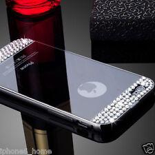 """Diamond Bling Mirror Aluminum Bumper Black Hard Case For iPhone 6/6s PLUS (5.5"""")"""