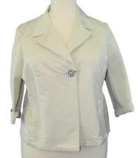 MARINA RINALDI by MaxMara Emisfero Beige One Button 3/4 Sleeve Blazer $780 NWT