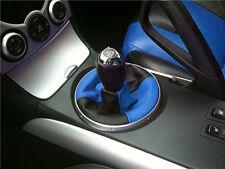 FITS MAZDA RX8 GEAR GAITER SHIFT BOOT 2 TONE BLACK L BLUE