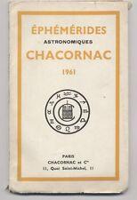 EPHEMERIDES CHACORNAC 1961 Paris effemeridi astronomia