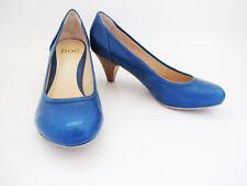 Noe Medium Mid Heel Women Leather Pump Court Shoes