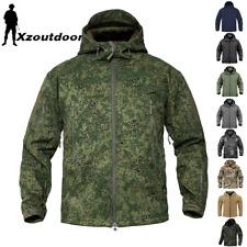 Windbreaker Mens Soft Shell Jacket Fleece Army Waterproof Camouflage Casual Coat